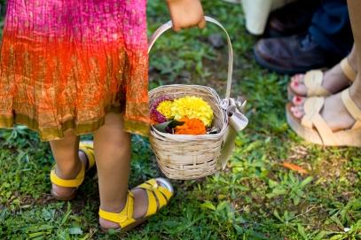 Fall Wedding Flowergirl