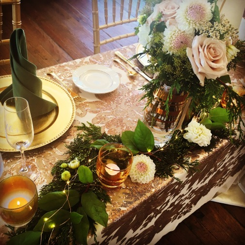 Forrest Wedding Sweetheart Table