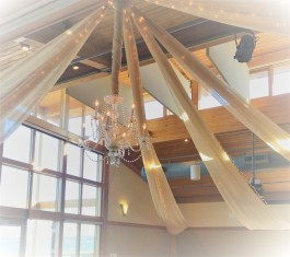 Romantic Wedding Chandelier and Draping