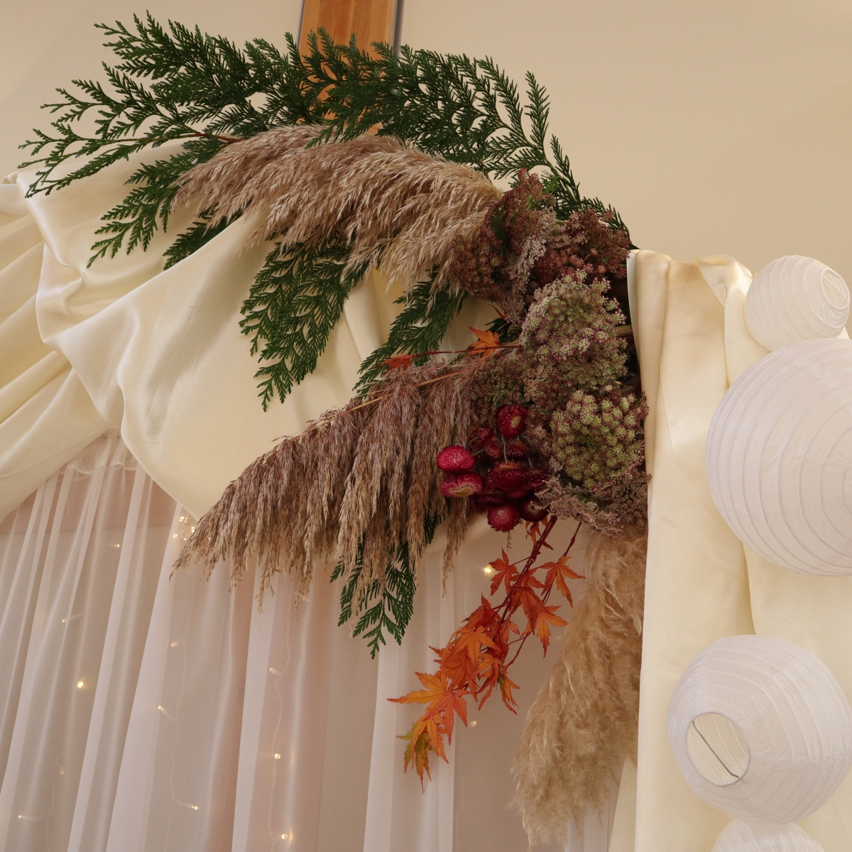 Autumn Seascape Ceremony Arch
