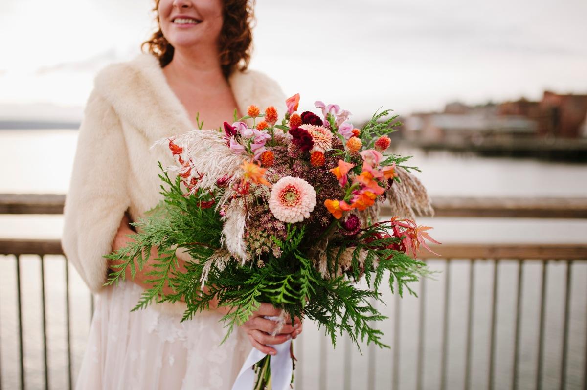 Autumn Seascape Bride's Bouquet